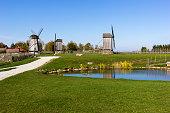 Windmills on Saaremaa Island in Estonia