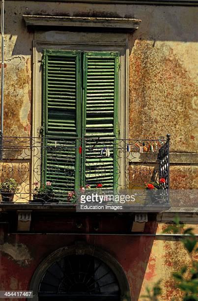 Window And Balcony Of Carrara Tuscany Region Italy