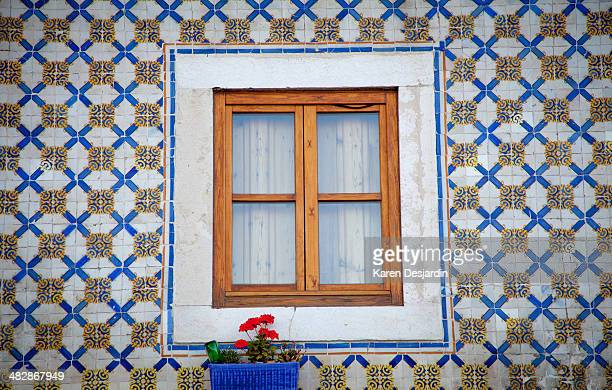 Window and tiled building exterior, Lisbon