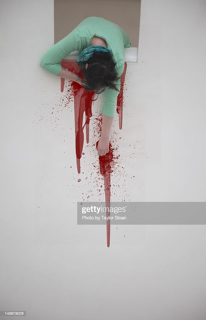 Window blood : Stock Photo