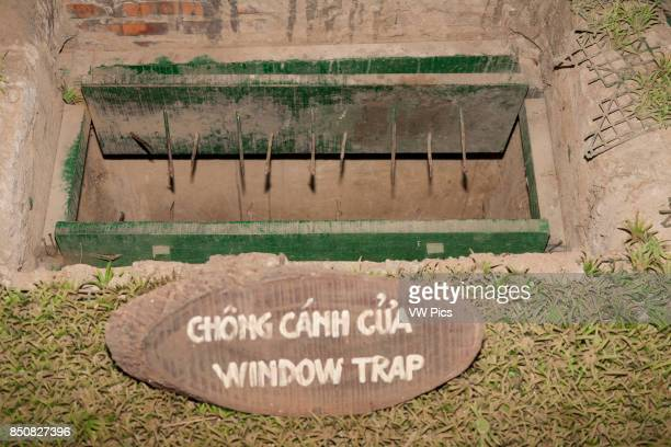 A window booby trap at Ben Dinh Cu Chi near Ho Chi Minh City Vietnam
