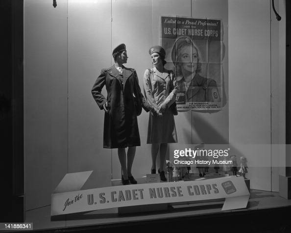 Window Display at Marshall Field Company US Cadet Nurse Corps display Chicago Illinois June 27 1944