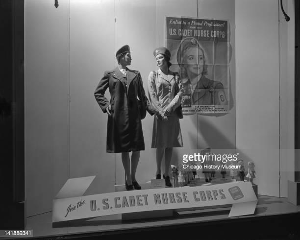 Window Display at Marshall Field Company US Cadet Nurse Corps display Chicago Illinois June 27 1944