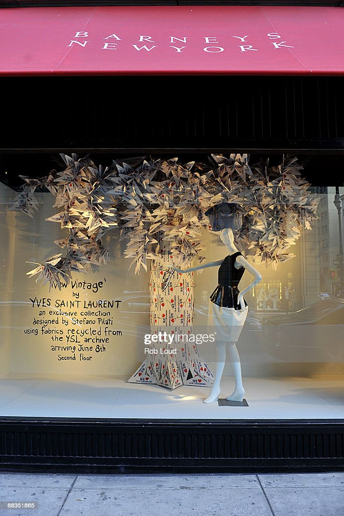 A window display of The Barneys New York Yves Saint Laurent present 'New Vintage' Collection at Barneys New York on June 8 2009 in New York City