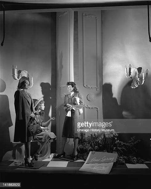 Window Display With Easter Theme at Marshall Field Company Sunningdale shop Chicago Illinois April 7 1944