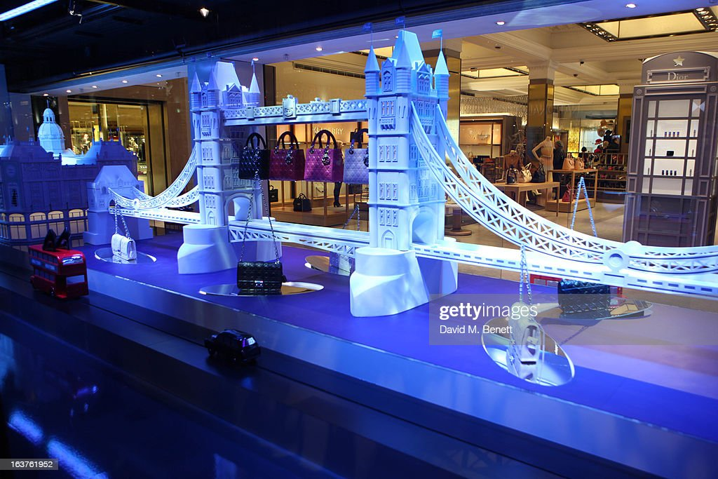 A window displayed during the launch of Dior at Harrods on March 14, 2013 in London, England.