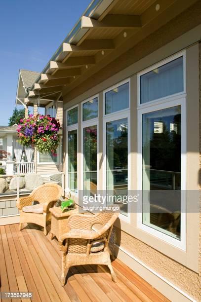 window house building exterior balcony patio