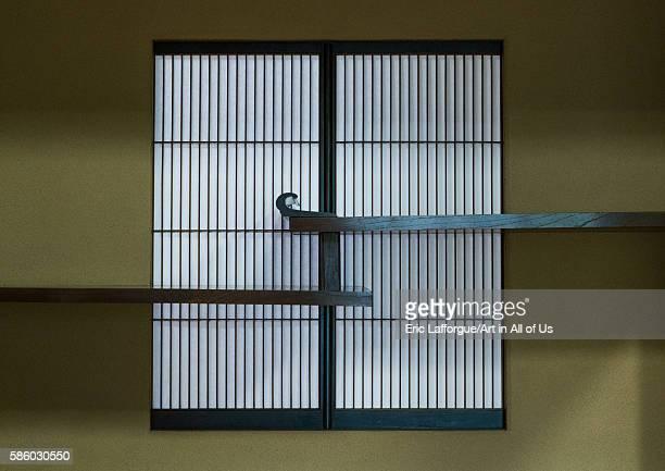 Window in kyu asakura traditional japanese house from taisho era Kanto region Tokyo Japan on May 19 2016 in Tokyo Japan