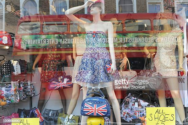 Window in Portobello Road Notting Hill in London United Kingdom on September 18 2010