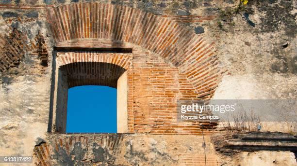 Window in ruined building in Antigua Guatemala