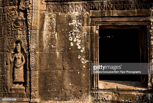 Window of Temple of Banteay Kdei, Angkor, Siem Reap, Cambodia, Indochina, Asia