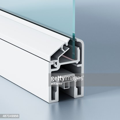 PVC window profile : Stock Photo