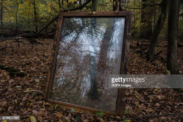 A window waiting to be lifted and placed on a new tree house Starting in 2012 the Hambach Forest occupation settlements have slowed the expansion of...