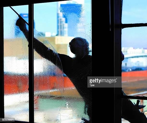 Window Washer Silhouette