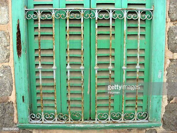Window with green shutters, Port Soller, Mallorca