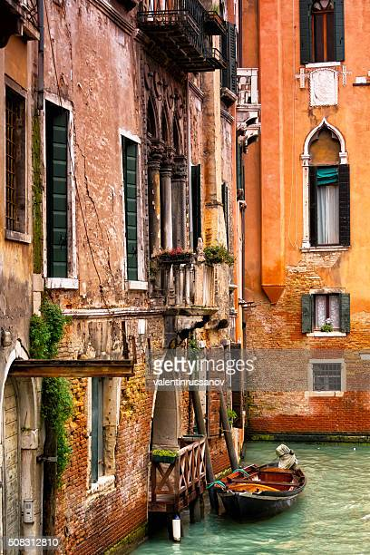 Windows and walls at Grand canal in Venice, Italy
