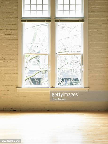 Windows in empty loft