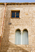 Windows in kalsa district of Palermo, southern Italy