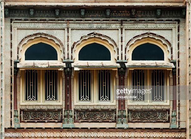 Windows of a palace, Mysore Palace, Mysore, Karnataka, India