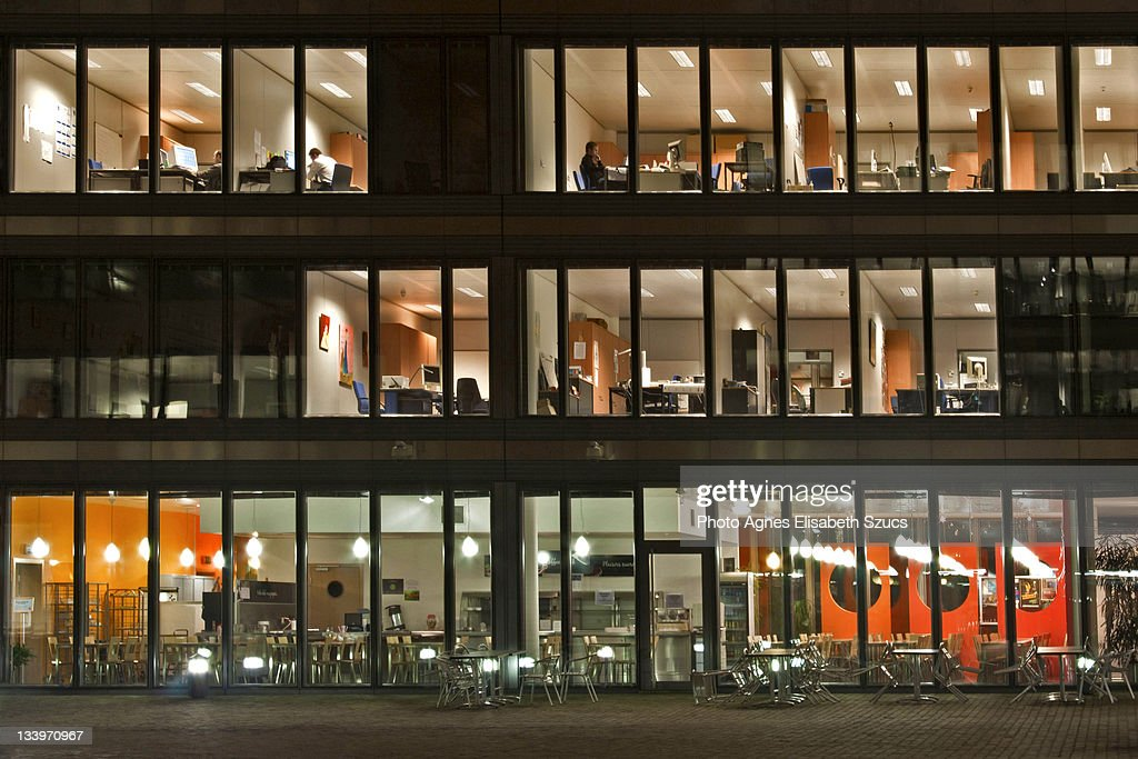 Windows of an office building : Stock Photo
