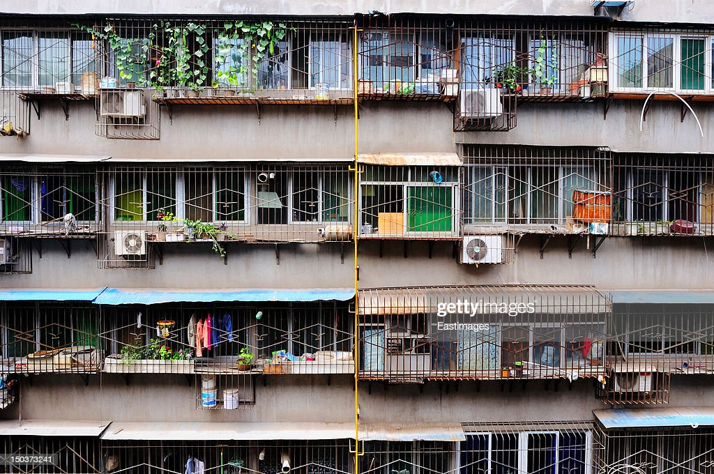 Windows of residential buildings : Stock Photo