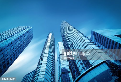 Windows of Skyscraper Business Office in qindao,china : Stock Photo