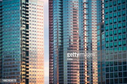 Windows of urban skyscrapers : Stock Photo