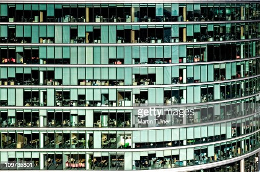 Windows office space : Stock Photo