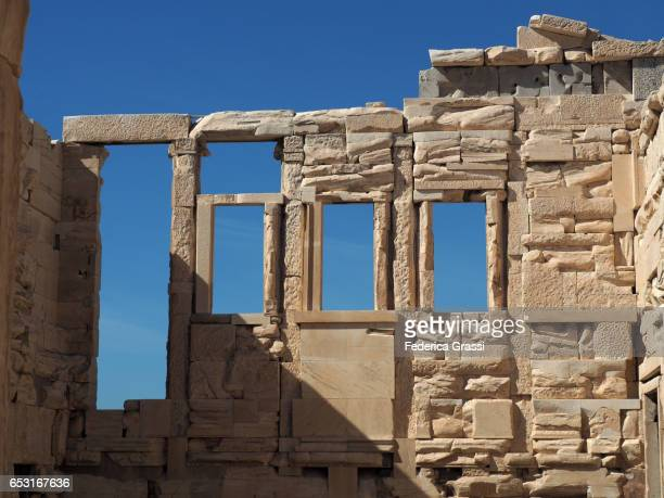 Windows On The West Facade Of The Erechtheion