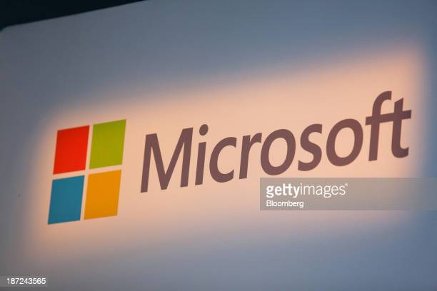 A Windows operating system logo sits on display inside Microsoft Corp's new store in Berlin Germany on Thursday Nov 7 2013 Microsoft Corp's board...
