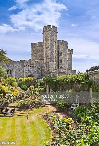 Windsor Castle with Blue Sky and Clouds, Berkshire, England, UK.