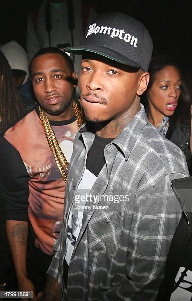 Windsor 'Slow' Lubin and Yg attend Yg Official Album Release Party at Webster Hall on March 20 2014 in New York City