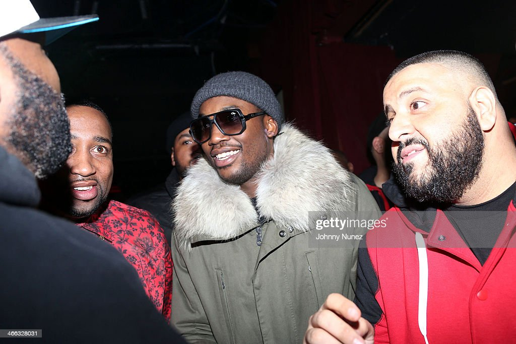 Windsor 'Slow' Lubin, <a gi-track='captionPersonalityLinkClicked' href=/galleries/search?phrase=Meek+Mill&family=editorial&specificpeople=7187702 ng-click='$event.stopPropagation()'>Meek Mill</a>, and <a gi-track='captionPersonalityLinkClicked' href=/galleries/search?phrase=DJ+Khaled&family=editorial&specificpeople=577862 ng-click='$event.stopPropagation()'>DJ Khaled</a> attend The Legendary Tunnel Party at B.B. King Blues Club & Grill on January 31, 2014 in New York City.