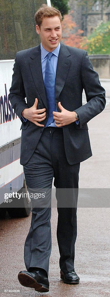 <a gi-track='captionPersonalityLinkClicked' href=/galleries/search?phrase=Prince+William&family=editorial&specificpeople=178205 ng-click='$event.stopPropagation()'>Prince William</a> arrives at St George's Chapel at Windsor Castle, 23 April 2006, to attend a special service of thanksgiving marking Queen Elizabeth II's 80th birthday. In yet a further homage for her 80th birthday, Queen Elizabeth II was hailed 23 April for imparting a 'sense of calmness, serenity and stillness' to Britons buffeted by a turbulent world. In contrast to the smiles she flashed at the fireworks and public displays of affection on her birthday on Friday, the queen sat quietly for the tribute at a solemn church service at Windsor Castle, west of London. The sermon in St George's Chapel, the burial place of 10 monarchs, echoed messages given last week by British politicians and by Prince Charles, her son and heir to the throne, who called her his 'darling Mama.' AFP PHOTO/FIONA HANSON/POOL