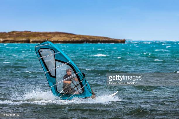 Windsurfer in transparency