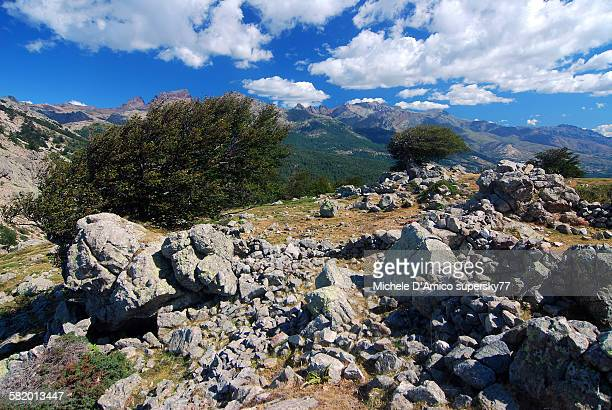 Windswept Corsican mountains