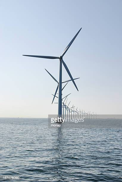 windturbine at the ocean outside Copenhagen, vertical