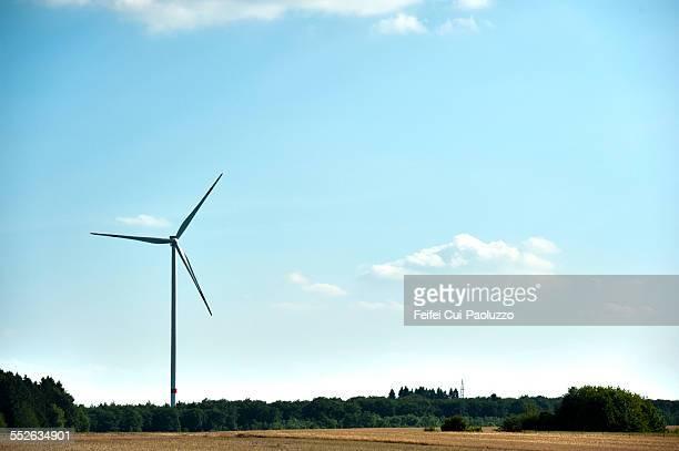 Windturbine near Dunkirk Nord-Pas-de-Calais France