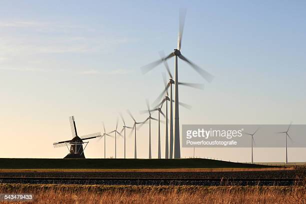 Windturbines and old windmill