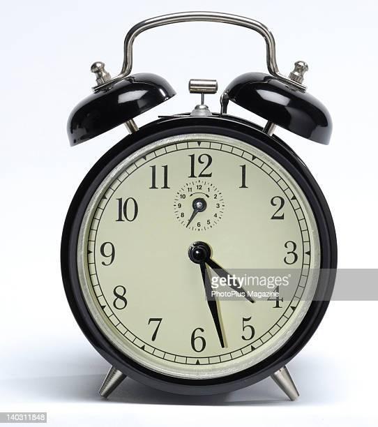 A windup springdriven alarm clock taken on January 14 2008