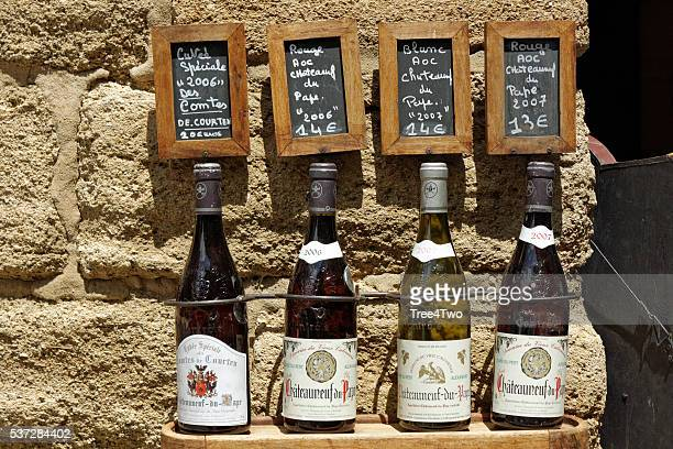 Wine advertising in the french village Chateauneuf Du Pape