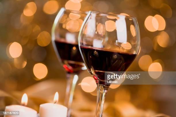 Vin et de lumières de Noël