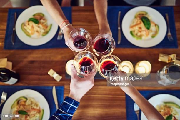 Wine and dinner is always a winner