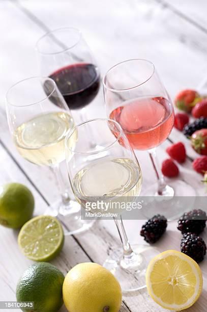 Vin et de fruits d'été