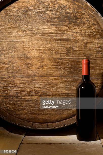 Wine Barrel and Bottle