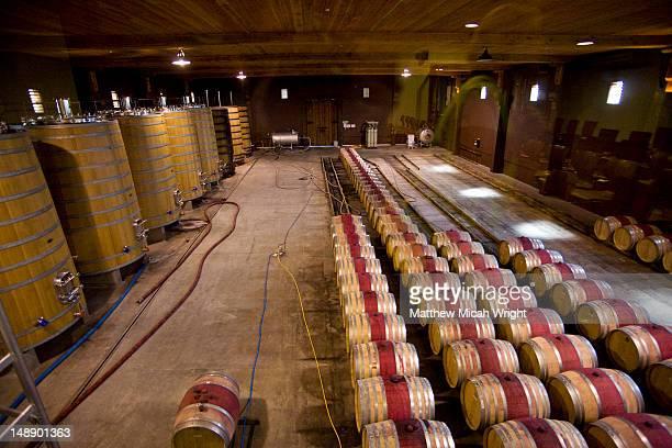 Wine barrels at Brancott vineyard.