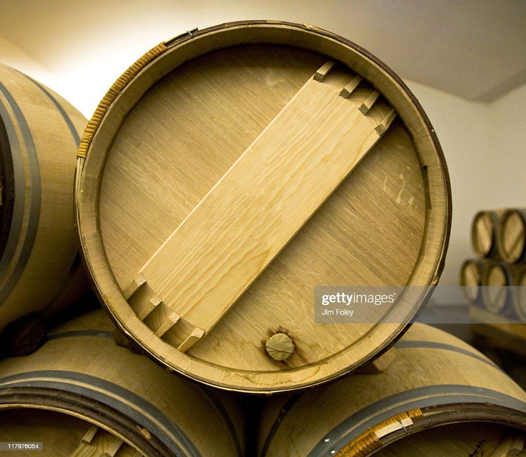 Wine Barrels, Bordeaux, France : Stock Photo