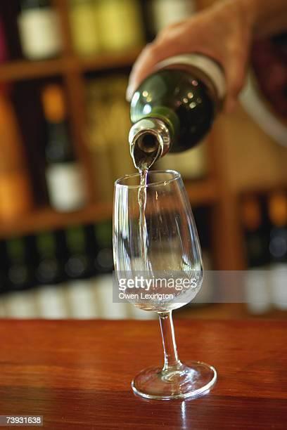 Wine being poured at Vasse Felix Vineyard in Margaret River, Australia