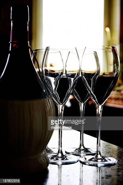 Wine Bottle - Chianti. Color Image