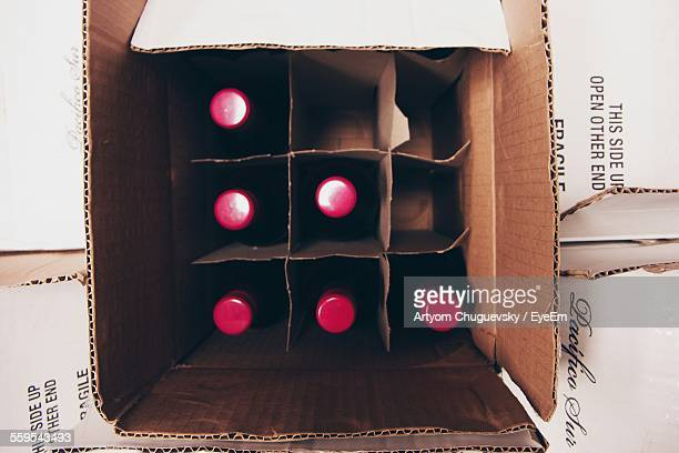 Wine Bottles In Cardboard Box